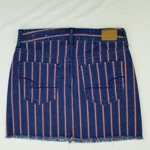 American Eagle 6 Regular Hi Rise Mini Skirt Blue